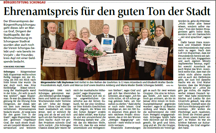 Ehrenamtspreis Graf
