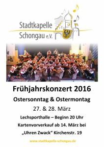 Plakat Frühjahrskonzert 2016